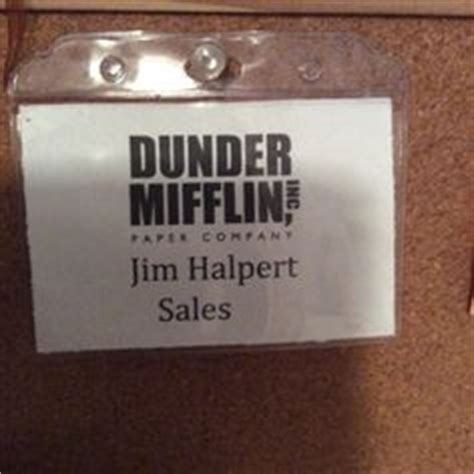 Pin By Mary Ellen F On The Office Birthday Party Ideas Pinterest Dunder Mifflin Mifflin Name Badge Template