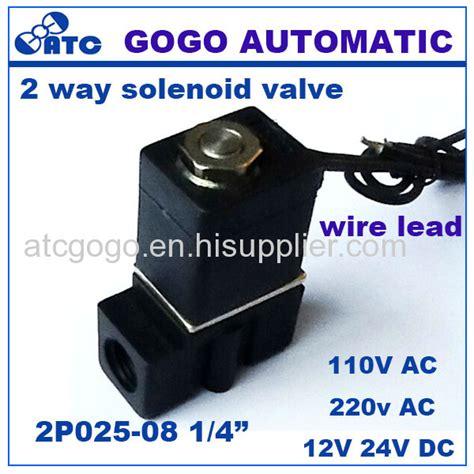 1 Quot Bspp 110v Ac 2p025 06 1 8 Quot Bspp Pvc Plastic Pneumatic Micro Valve 12v