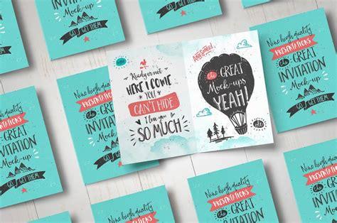 invitation card graphic design invitation greeting card mock up punedesign