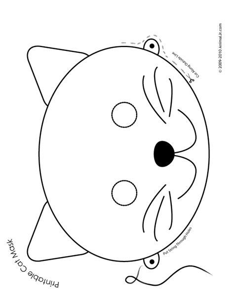 free printable animal masks templates free animal mask coloring pages