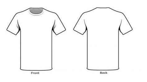 Blank Tshirt Template Front Back Side In High Resolution Art Ideas Clothing Templates T T Shirt Front And Back Template