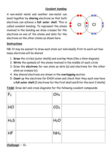 Covalent Bonding Worksheet Pdf