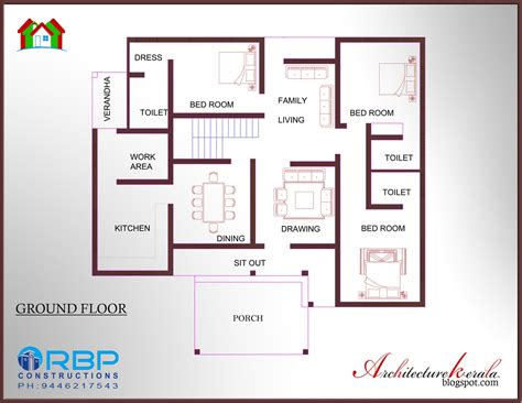 kerala home floor plans architecture kerala 5 bhk traditional style kerala house