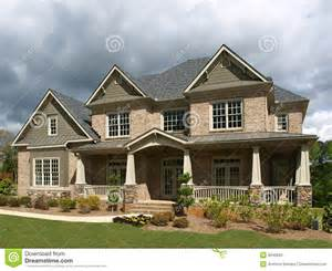 pictures of home luxury model home exterior stormy weather stock photos image 9646263
