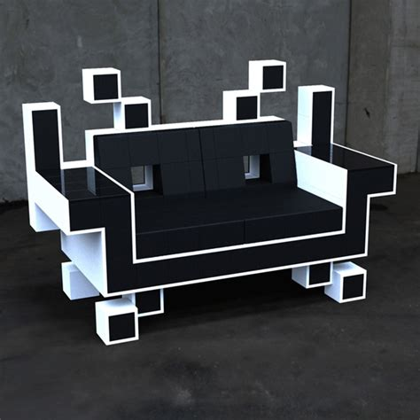 gamer sofa space invader couch