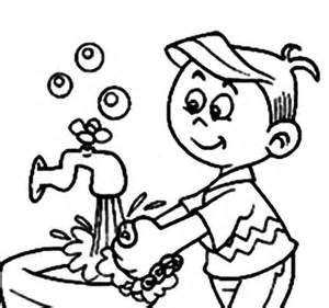 Hand Washing For Kids Coloring Pages - ausmalbilder h 228 ndewaschen viren virenstop