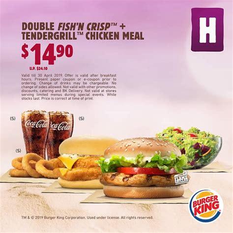 burger king enjoy savings  bk meals