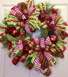 Christmas Tree Decorating Ideas Ribbon Garland - kerst kransen interieur insider