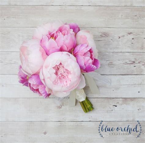pink peonies wedding peony bouquet pink peony bouquet silk peony bouquet