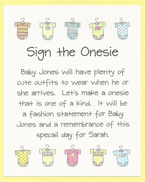 Onesie Painting Baby Shower by Decorate Sign Paint A Onesie Baby Shower Activity Sign