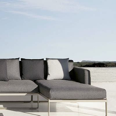 miami minimalist modern design leather sofa outdoor