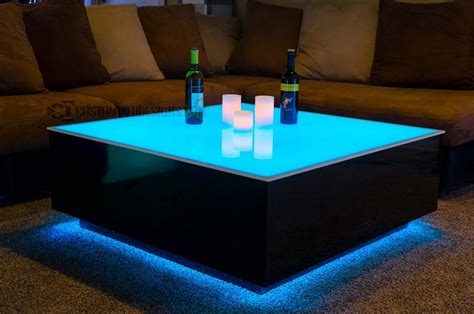 led table l 30 photos led coffee tables