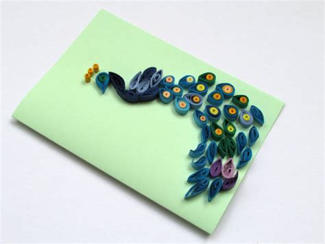 Handmade Greeting Cards Paper Quilling - peacock quilling card handmade greeting card with quilled