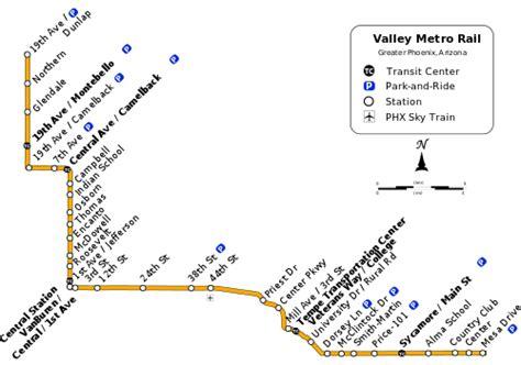 phoenix light rail stops list of valley metro rail stations