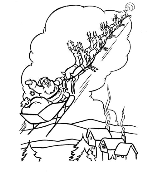 coloring pages reindeer and sleigh the holiday site santa s reindeer coloring pages