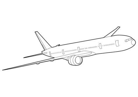 787 Coloring Page by Kleurplaat Boeing 777 Afb 10266