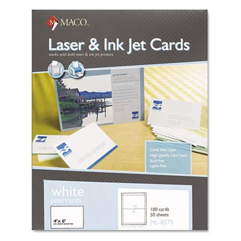 staples ruled index cards 15095 print template macml8575 maco unruled microperforated laser ink jet index