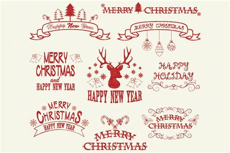 merry christmas clipart illustrations creative market