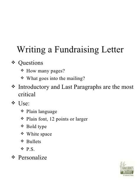 Fundraising Introduction Letter Fundraising Presentation