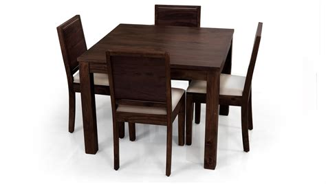 Dining Room Table With 4 Chairs Square Dining Table For 4 Homesfeed