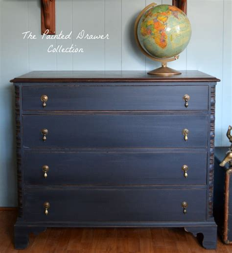 chalk paint general finishes dresser in black pepper chalk style paint and flat out