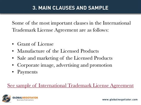 International Trademark License Agreement Contract Template And Sam Trademark License Agreement Template