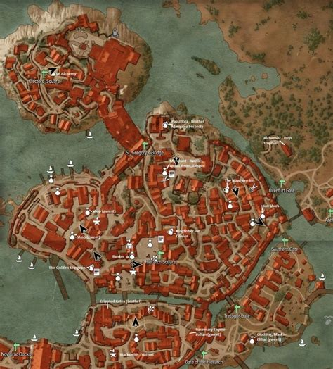 witcher 3 bank location the witcher 3 wild hunt maps with marked location of