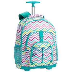 Gear up multi chevron print rolling backpack pbteen