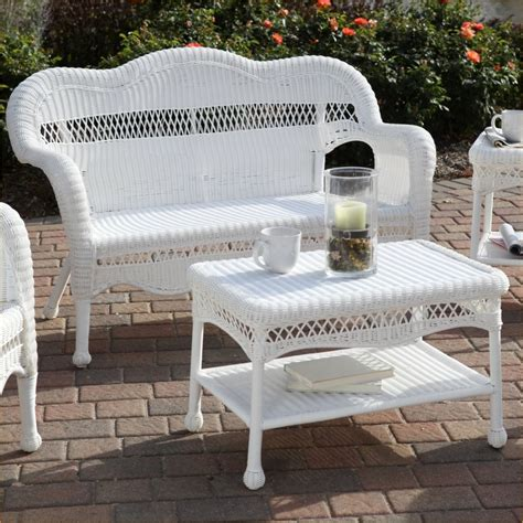 White Wicker Patio Furniture Clearance Outdoor White Wicker Furniture On Sale