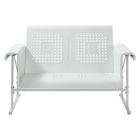 metal glider sofa veranda metal patio loveseat glider target