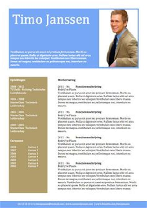 Cv Sjabloon Voor Word Orginele Cv S On Resume Resume Design And Creative Resume