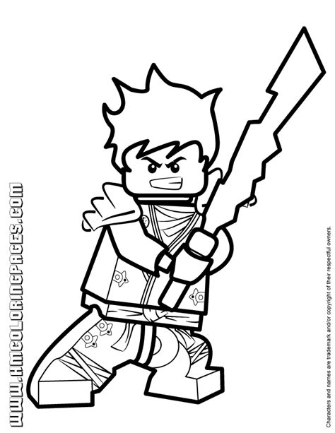 free coloring pages of lego ninjago kai 2015