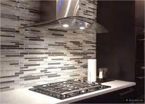 modern look gray white color glass brick backsplash tile