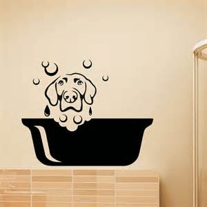Puppy Wall Stickers Dog Wall Decal Pets Grooming Salon Decals Vinyl Sticker Dog