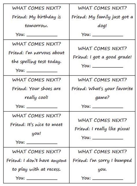 Social Skills Free Worksheets by Social Skills Cards Social Narratives To