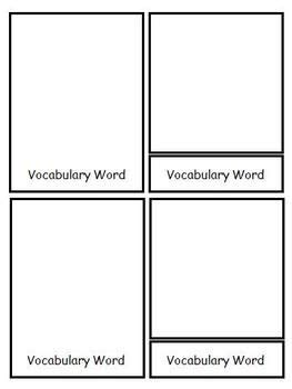 Montessori 3 Part Cards Template blank montessori style 3 part nomenclature cards template