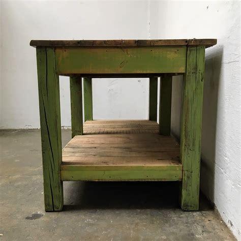 industriele tafel amsterdam industri 235 le groene werktafel met onderblad 187 van dijk en ko
