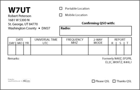 qsl card template hrojects qsl cards by accucolor