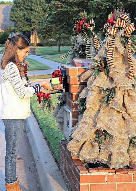 ls outdoor christmas decorations trees best 25 mailbox decorations ideas on mailbox decorations for