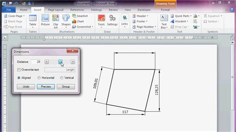 microsoft drawing cad like dimensioning in microsoft office word 2010