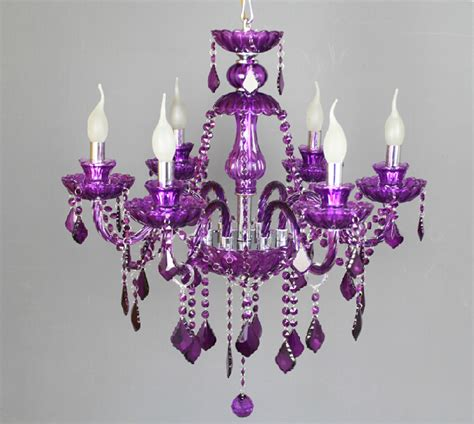 Chandelier Purple Purple Glass Chandelier Best Home Design 2018