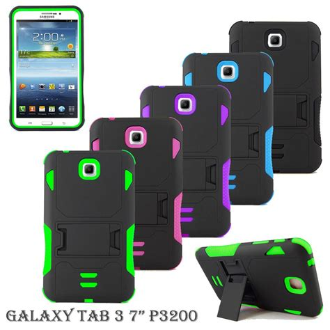 Samsung Galaxy Tab 7 Shockproof Silikon Soft Casing Cover dual layer armor impact box shockproof cover for samsung galaxy tab tablet ebay