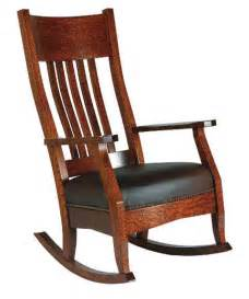 Ideas For Oak Rocking Chair Arts And Crafts Mission Rocker And Footstool Amish Family Room And Theater Room Furniture