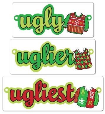 printable ugly sweater display garland template