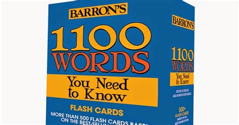 Barron S 1100 Words You Need To lighthouse academy barron s 1100 words you need to flash cards