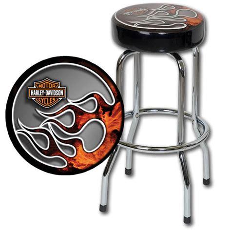 harley davidson stools custom made cherry bar stools bar hdl 12117 harley davidson 174 extreme flames bar stool