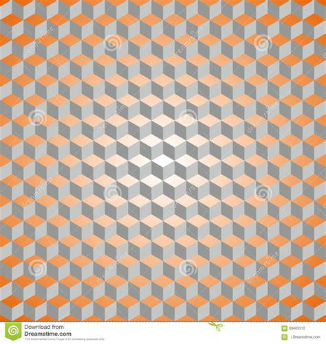 pattern orange grey seamless isometric cube pattern stock vector image 69405512