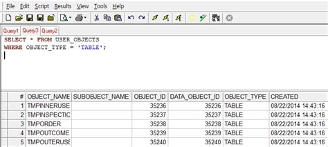 oracle 오라클 object 조회하는 법 table view function