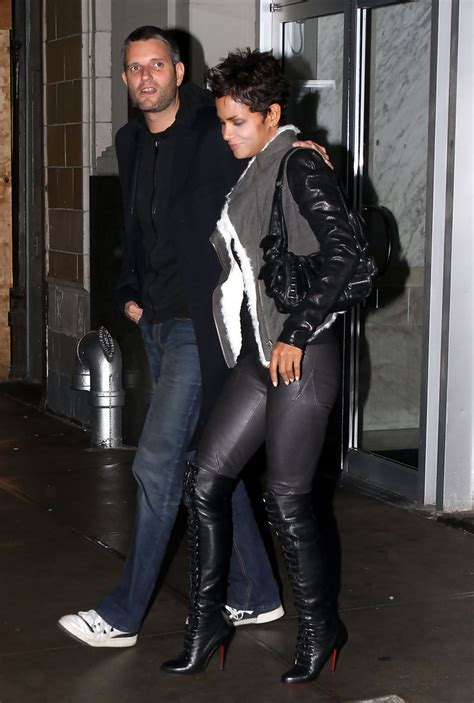 Halle Berry Gets On Knees For A by Halle Berry The Knee Boots Halle Berry Boots Looks