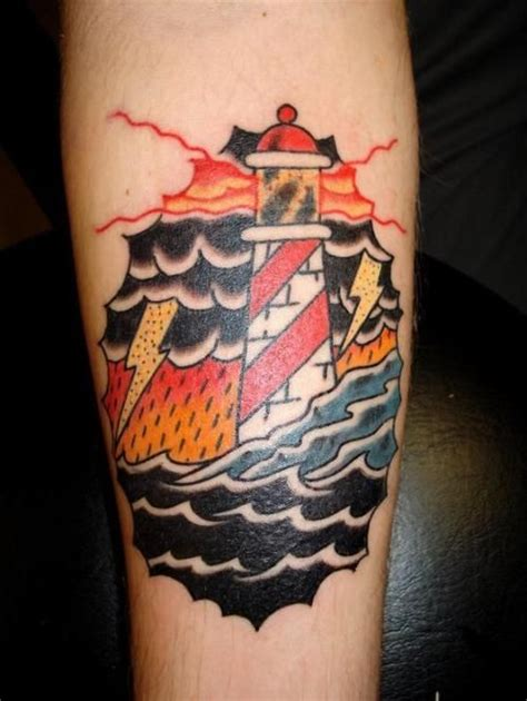 tattoo old school lighthouse tattoo old school traditional nautic ink lighthouse